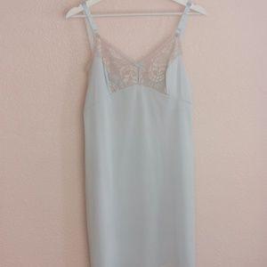 Pale Blue Vintage Lace Slip